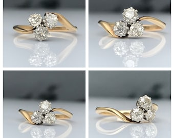 Layaway payment 2 of 5 for *Rufina*  SOLD! Antique ~ 18ct Gold Diamond Trilogy ~ Engagement Ring ~ Size UK M / US 6