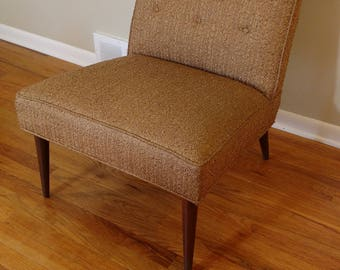 Mid Century Kroehler Slipper Chair & Mid Century Modern Slipper Chair