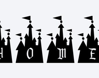 SVG, disney, disney home, home, disney castle, cinderella castle,  cut file, printable,  cricut, silhouette, instant download