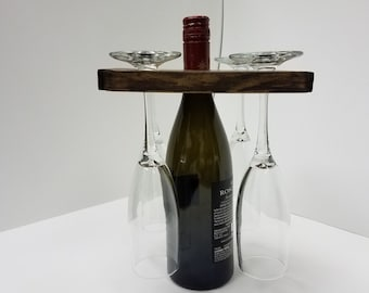 Wine and Four Wine Glass Carrier