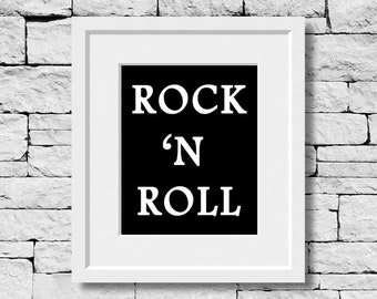 Rock and Roll, Music Prints, Singing Quotes, Music Quotes, Singer Gifts, Music Wall Art, Vocalist Gifts, Musician Quotes, Gifts for Musician