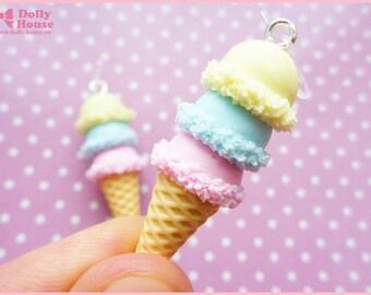 Sweet kawaii Ice-Cream Earrings by Dolly House