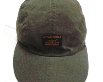 RARE VINTAGE 40%uparmed wtaps army military panel camp cap hat