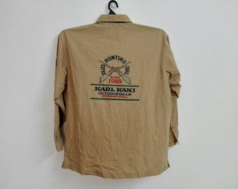 Vintage Karl Kani Outdoorsman International Button down Tshirt Size XXLarge