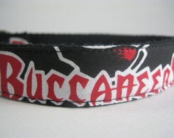 Tampa Bay Buccaneers hemp dog collar or leash