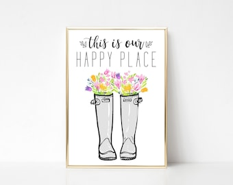 This Is Our Happy Place Wall Art Print