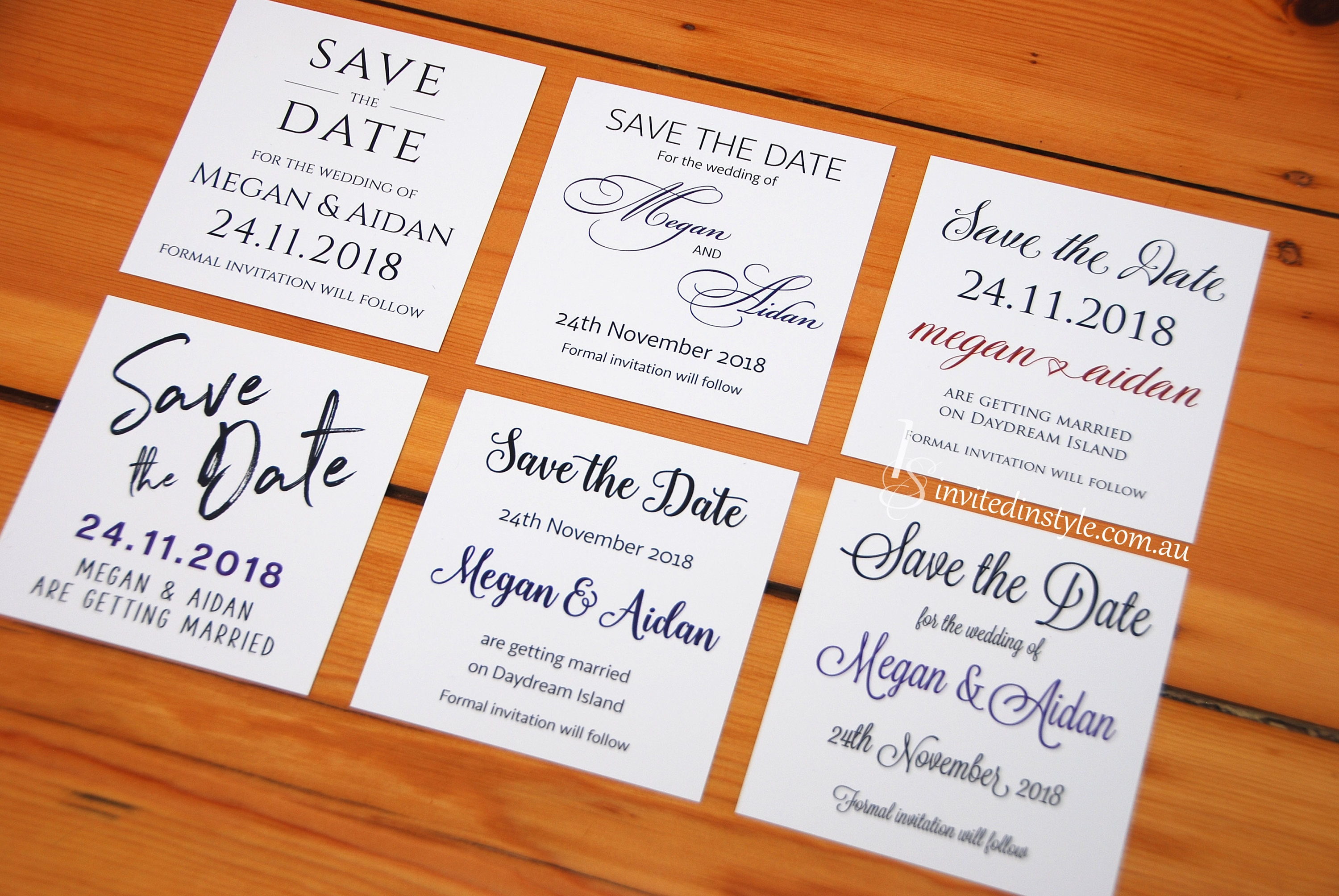 Personalised Save the Date card choose your design