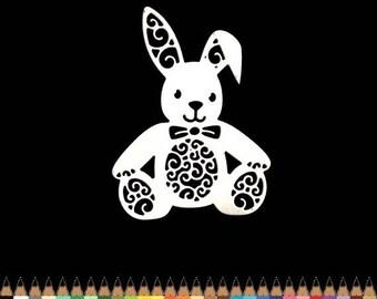 Cut scrapbooking animal Easter rabbit plush toy blanket scrap cut paper embellishment die cut creation