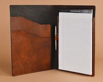 Leather Legal Pad Portfolio - Letter Sized Legal Pad Folder - Legal Pad Holder