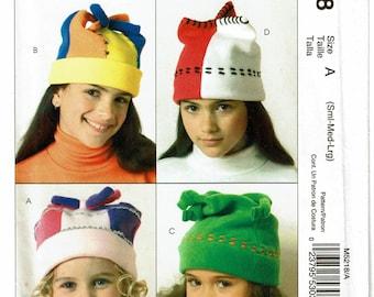 McCalls Pattern 5218 Children's Hats size A (SML-LRG) UNCUT