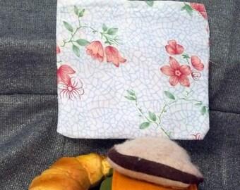 Reusable Sandwich Bag, Bell Flowers Design