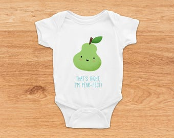 Newborn Coming Home Outfit, I'm Pear-fect, Funny Onesies, Cute Baby Clothes, Baby Boy Onesie, Baby Girl Onesie, Funny Baby Shower Gifts