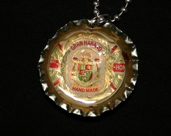 Gran Habano bottle cap necklace