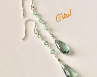 Prasiolite Earrings (Green Amethyst)