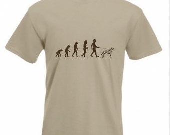 Evolution To Dalmation t-shirt Funny Dog T-shirt sizes Sm To 2XXL