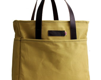 Travel Tote - Water Resistant Cotton Duck - Sierra Sand - Made in the U.S.A.