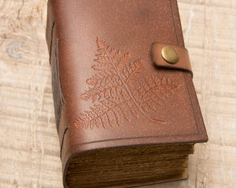 Brown Leather Journal, Handbound Journal, Leather Diary, Notebook