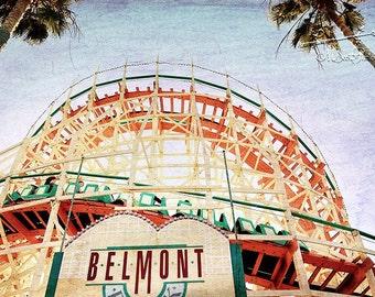Roller Coaster Photo | Belmont Coaster San Diego Mission Beach | Endless Summer | California Art | Beach House Decor | New Home Gift