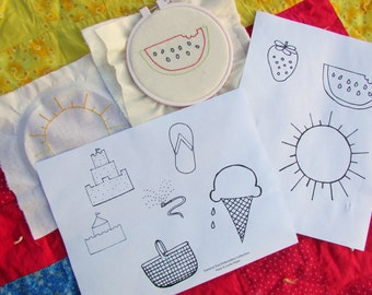 Hand Embroidery Pattern// Summer Love Collection