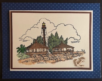 Sanibel Lighthouse - Blank Notecard