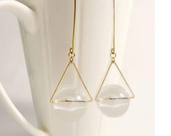 Floating Leaves Sterling Copper Plating Sliver Stud earrings (SE011)