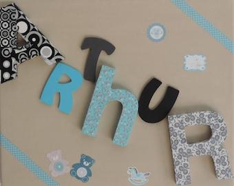 Frame baby custom name 6 letters