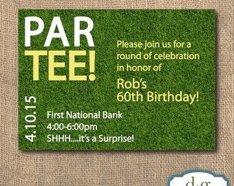 Birthday Invitaiton, Golf Party, Golf theme, Golf Par-Tee Birthday Invitation, 5x7, PRINTABLE