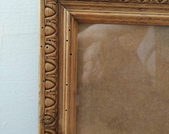 Photo frame wood in its original with new background color