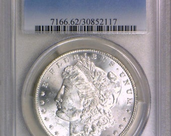1886 Morgan Dollar PCGS MS-62; Clashed, Vam-6A; Frosty White!