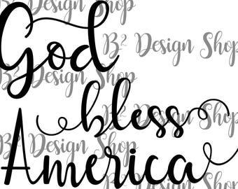 God Bless America - SVG file
