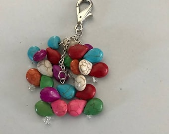 Multiple colored beaded purse bling jewelry accessory