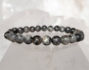 ॐ Larvikite Bracelet 6mm ॐ Mala Bracelet - Yoga Bracelet - Meditation - Reiki Bracelet 6 mm
