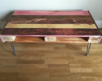 Upcycled rustic pallet coffee table
