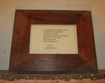 SHABBY ARCHITECTURAL Chic Salvaged Recycled Wood Photo Picture Frame 4x6 S-450