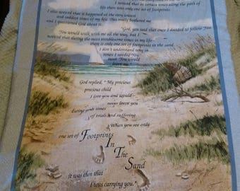 Footprints in the sand blanket