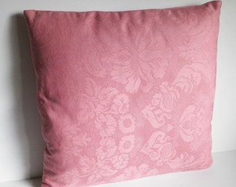 Damask Pillow Cover - Pink /Rose (18in.)