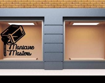 Wall Decal Nail Salon Art Beauty Salon Nail Stylist Nail Art Polish Manicure Woman Gift 1282t
