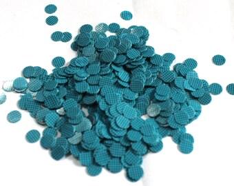100 Blue Color/ Round Sequins/Black dotted Texture/ PRS562