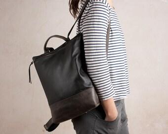 Gray women Backpack, gray black backpack, women backpack, craft backpacks, backpack purse, backpack leather, man back pack, backpack girl