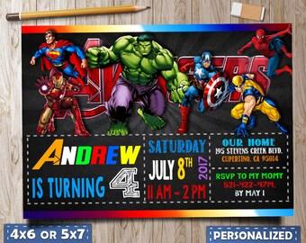 Marvel invitation Etsy
