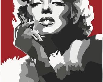 Marilyn Monroe Digital Art Print....