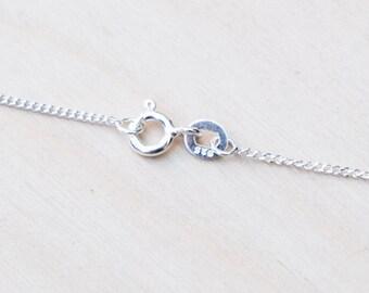 """18"""" Chain, 18 Inch Chain, 925 Sterling Silver Chain, Curb Chain, Diamond Cut Chain, Jewellery Chain, Short Chain, Chain for Pendants"""