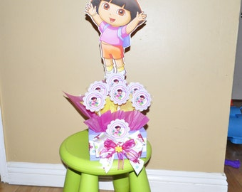 Dora the Explorer Centerpiece with Lollypops.
