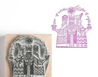 Christmas Rubber Stamp We Three Kings