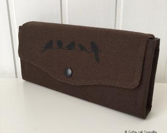 Wallets, big wallets, women wallets, hand-printed wallets, purses, brown wallets, handmade wallets