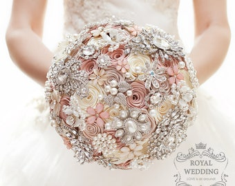Wedding Bouquet Bridal Bouquet Brooch Bouquet Bridesmaids Bouquet Silver Bouquet Keepsake Bouquet Silver Wedding Pink Bouquet Pearls Bouquet