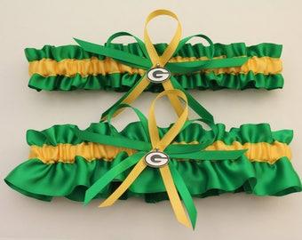 Green bay packer garter   Etsy