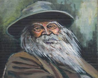 Walt Whitman mini portrait