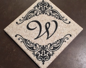 Customizable Monogrammed Trivet