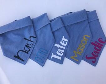 Personalized Denim bandana